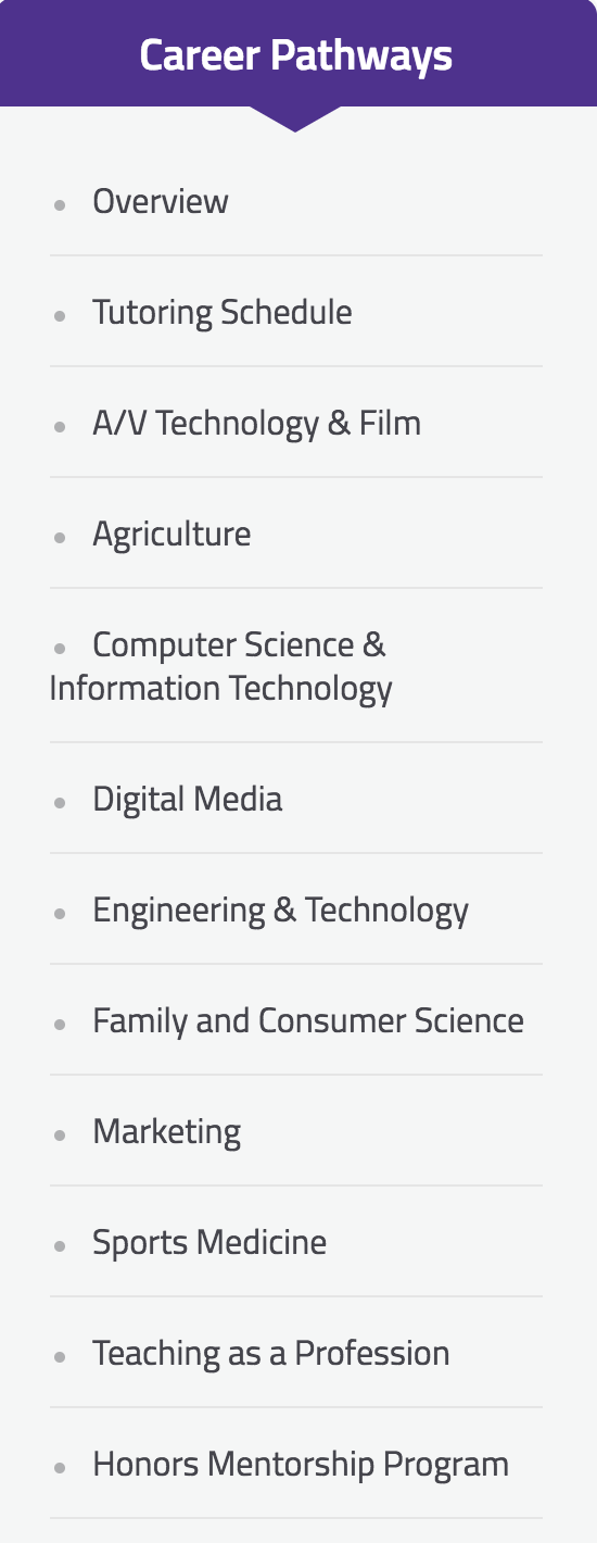 Students have a wide variety of electives to pick from. Which one will you choose?