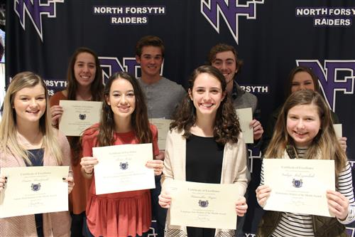 It is always an honor for North to hand out awards to dedicated students; the students are very proud of their achievement as well.