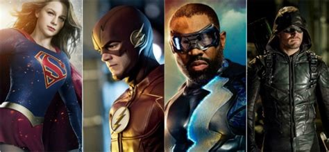 This+collage+shows+the+main+characters+of+all+four+of+DC%27s+most+popular+shows.+The+protagonists+of+%22Arrow%2C%22+%22Black+Lightening%2C%22+%22The+Flash%2C%22+and+%22Supergirl%22+are+all+in+the+image.+Photo+from+www.heroichollywood.com.