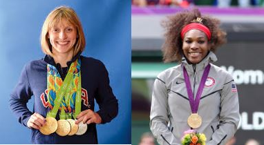 Above is a photo of Katie Ledecky (left) and Serena Williams (right). Both are esteemed athletes but have faced incidentes of sexism throughout their careers.