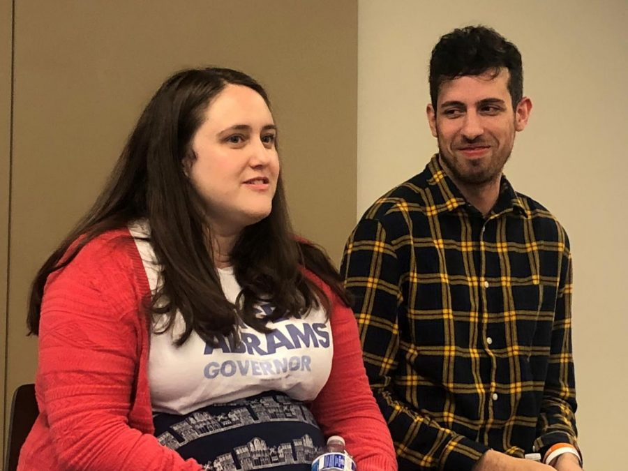 "Becky Albertalli (left) and Adam Silvera (right) discuss how they initiated the idea to incorporate the ""missed connections"" feature on Craigslist into their story."