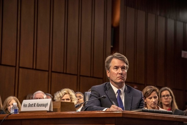 Picture by Mark Peterson. Brett Kavanaugh defends himself in court after several woman came forward accusing him of sexual misconduct.