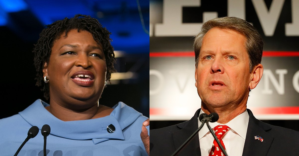 Georgia governor candidates Stacey Abrams (left) and Brian Kemp (right) (Photo credits: Atlanta Magazine).