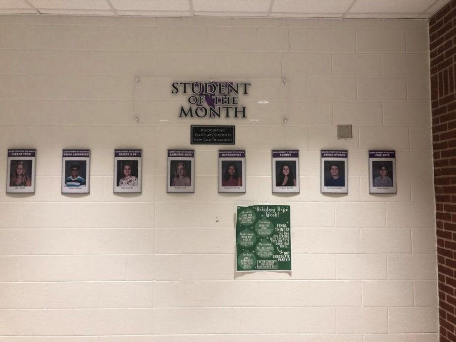 North Forsyth has announced the December Student of the Month.