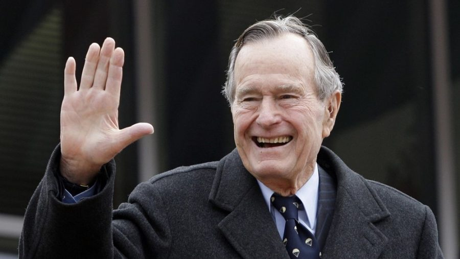 President Bush was often referred to as the most successful one-term president. Sadly, the well-respected president died November 30 of this year at the age of 94.  (Photo credit: Eric Gay.)