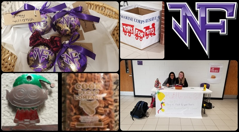 North is spreading holiday cheer! Several NFHS clubs are fundraising this holiday season and/or are sponsoring local charities! (Photo credit: Luke Miller.)