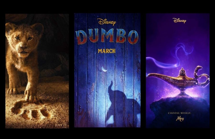 Almost+back-to-back%2C+Disney+is+releasing+three+new+live-action+movies+this+year%3A+%E2%80%9CThe+Lion+King%2C%E2%80%9D+%E2%80%9CDumbo%2C%E2%80%9D+and+%E2%80%9CAladdin.%E2%80%9D+In+all+three+movies%2C+viewers+will+recognize+certain+faces+and+familiar+voices.