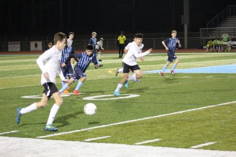 North's JV soccer team fought hard during the first game of the season.