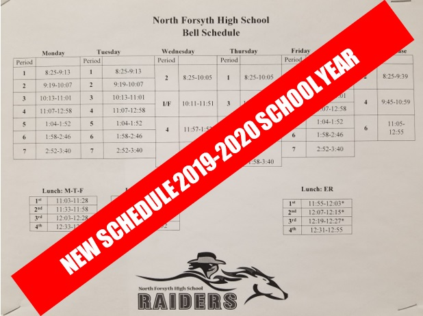 Beginning next school year, NFHS will be implementing a new schedule to help both student and staff improve overall productivity and emotional and mental wellness.