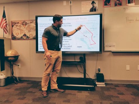 Castleberry teaching Conspiracy Theories on 9-25-2019. Going over JFK's route on the day of his assassination.