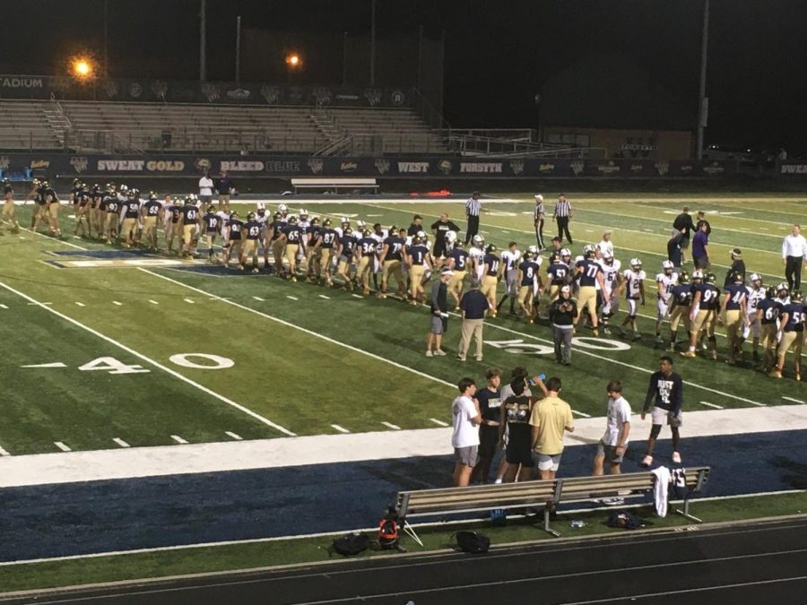 The Raiders played against West's Wolverines on Oct. 10, and won another victory for North Forsyth High School.