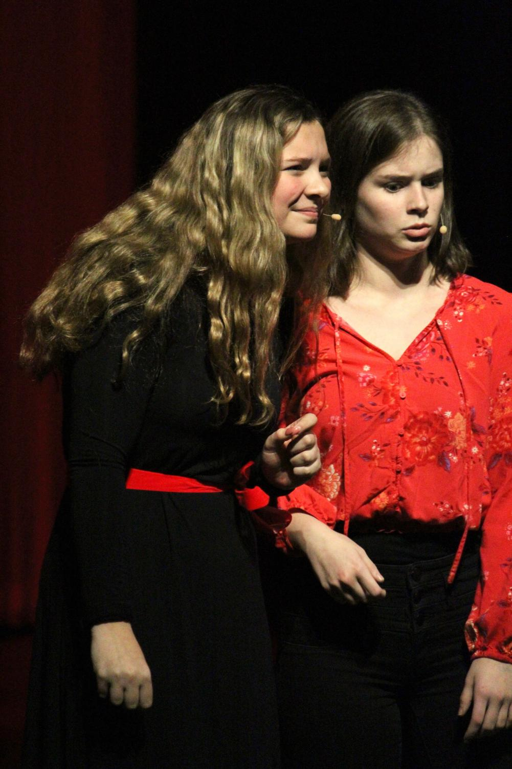 (Photo By: Sydney Jarrard). Harley Ansbro and Jen Vincent's performance of Anything you can do from Annie get your gun. We never got to find out who was better, but the performance was amazing.