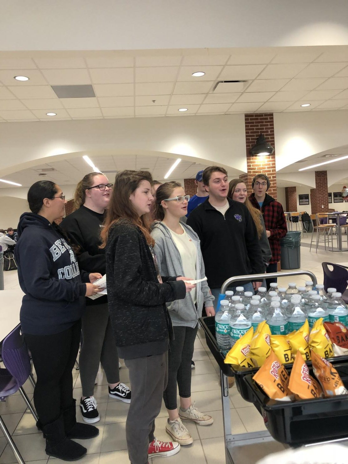 Tri-M Music Honors Society sings to Ms.Kay's Raider Time session on Wednesday. (Photo submitted by Hailey Knowles.)