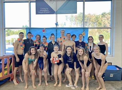 Raider Swim and Dive team wins second place in the FCHS Double Dual Invite.