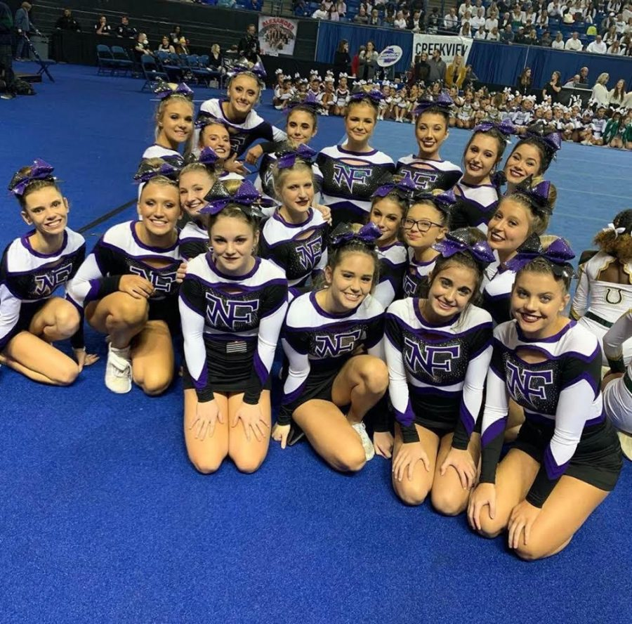 Competition Cheer Places Third in the State