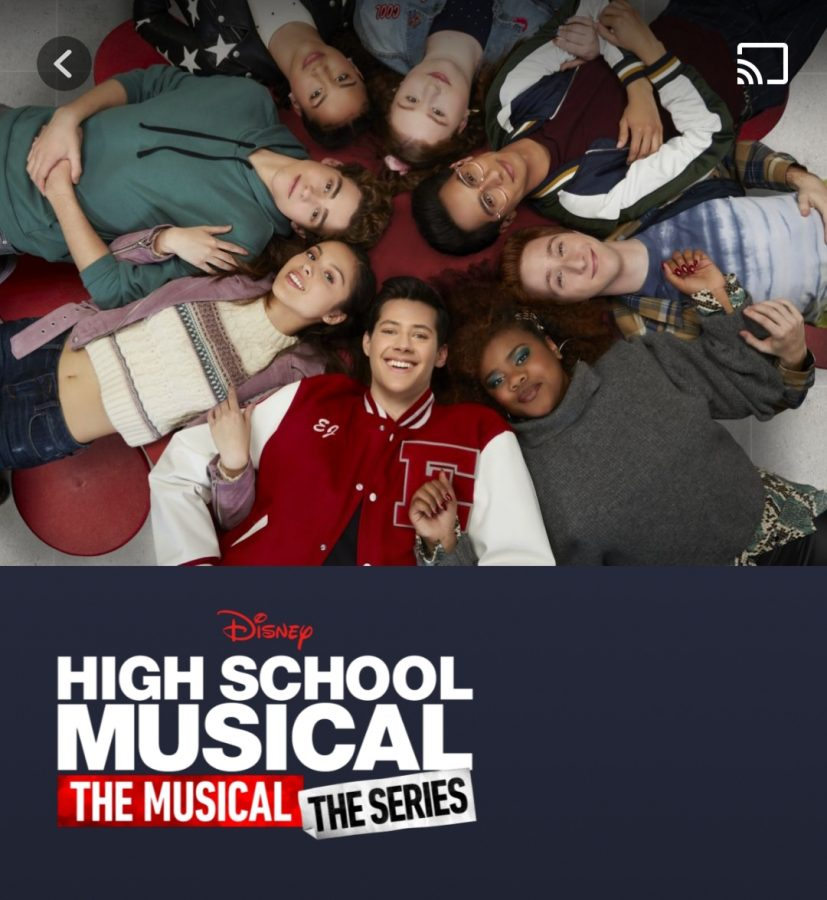 This is the cast of High School Musical The Musical The Series. Nini is in-between Ricky and E.J.