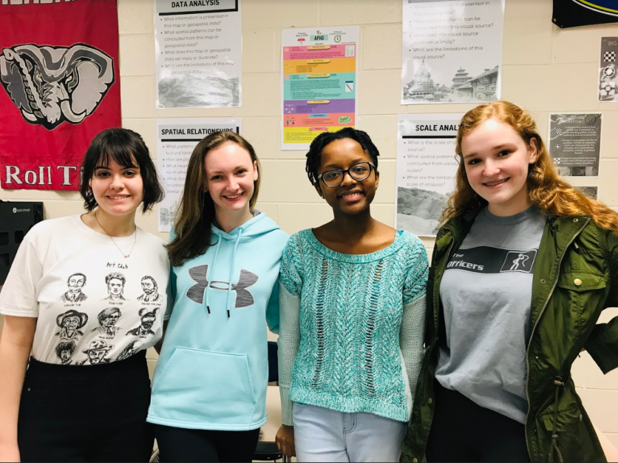 Junior Sydnee Mills, junior Emma Ferber, sophomore Cassidee Jackson and junior Madison Unger all attended the Wellness prep session on Feb. 27.