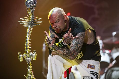 "Five Finger Death Punch dropped their eighth in-studio album ""F8"" with a total of 16 songs on it. This record is by far one of their best ones to date. Above is lead singer Ivan Moody at one of the FFDP shows. (Photo by Loudwire )"