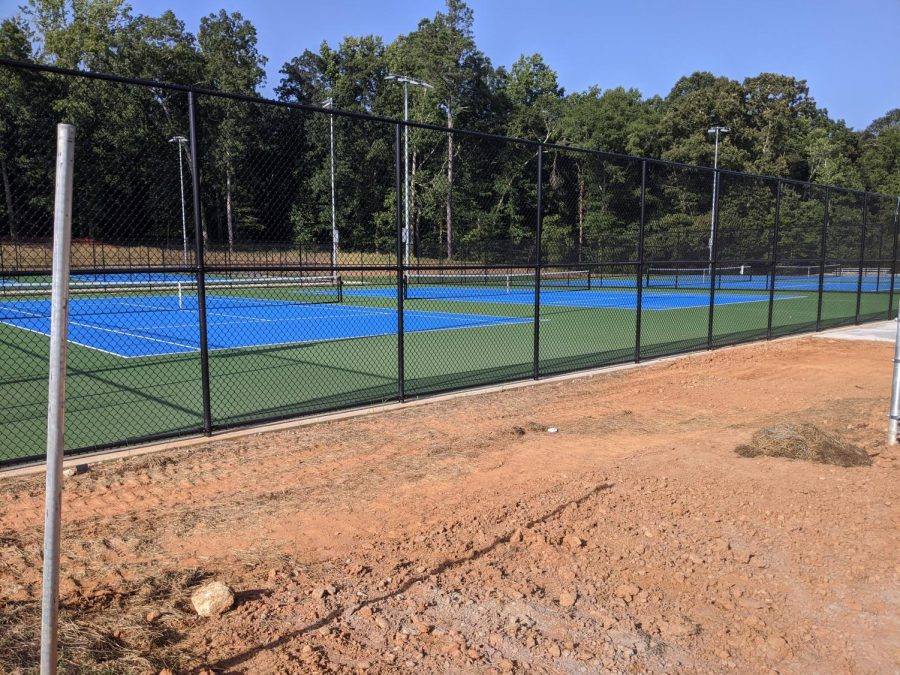 Matt Community Park's new tennis courts are almost complete. The courts are currently not accessible, but the county hopes for them to be soon.