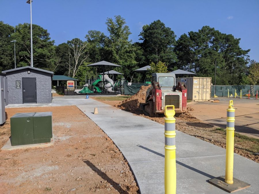 At Matt Community Park, the county added another public restroom in addition to the tennis courts. The county is working on cleaning up the landscape.