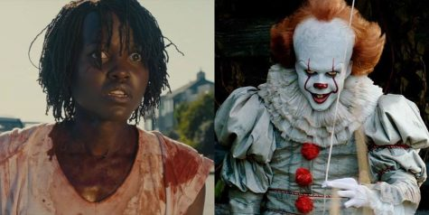 "Adelaide Wilson from ""Us"" and Pennywise from ""IT."" Source: Marie Daire"