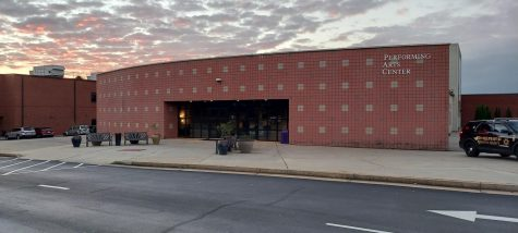 This photo is of the North Forsyth High School Performing Arts Center, where the public forum took place. Photo by Steven Gresham.