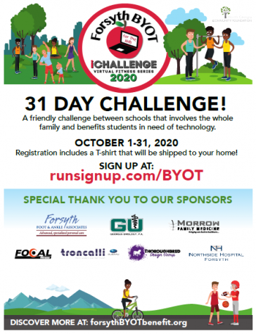 "NFHS along with multiple other Forsyth County Schools have been participating in the BYOT ""iChallenge."" The ""iChallenge"" is a friendly competition between schools that involves the whole family to get physical in order to raise funds for technology."