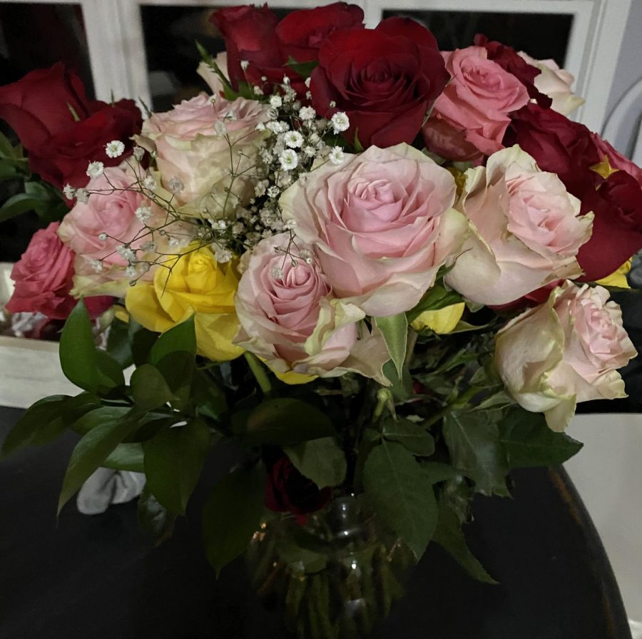 A bundle of roses.