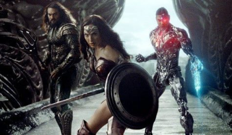 "A still from the movie ""Justice League"" that was released during the filming process and before Zack Snyder had to step down from the project. Photo courtesy of Warner Bros."