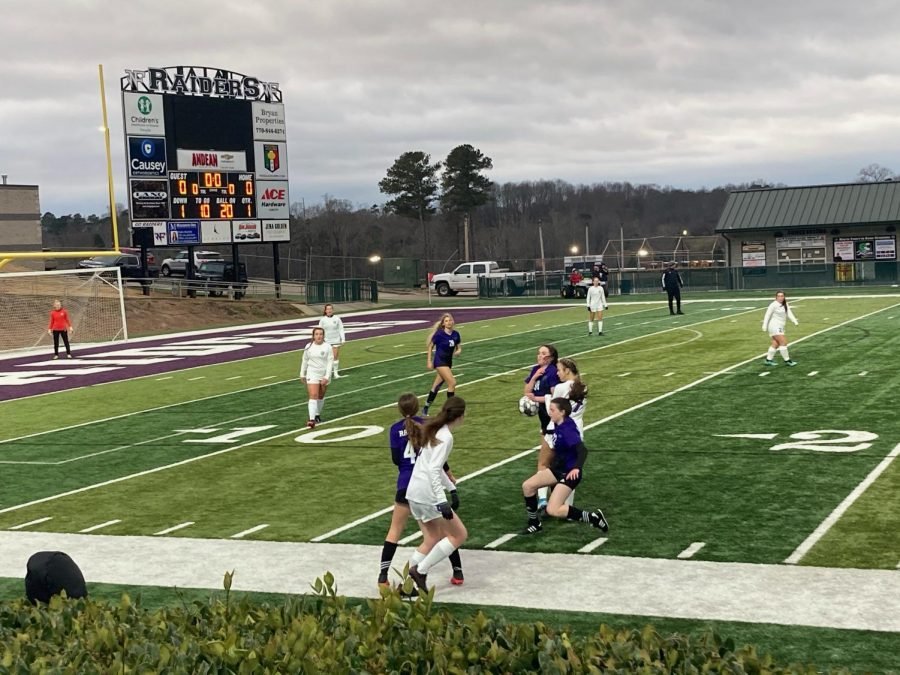 Lumpkin County and North Forysth faced off in the Raider Valley after school. (photo by: Emma Simmons)