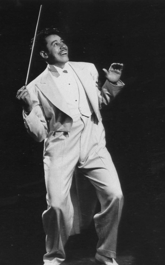 Cab Calloway was the inspiration for Cab as a character and what he said along with other characters' names. Photo from a 1942 Billboard Magazine.