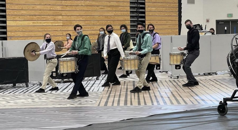 Drumline performed at Denmark High School on Feb 20. Photo By: GIPA Percussion