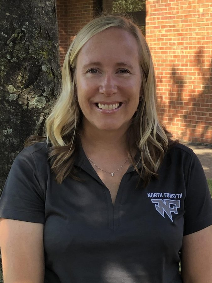 Chemistry and Oceanography teacher, Heidi Archer, was announced as the NFHS Varsity Sideline and Basketball Cheer Coach. She hopes to bring life and energy to the Raider Valley and Raider Arena. Photo by: Heidi Archer.