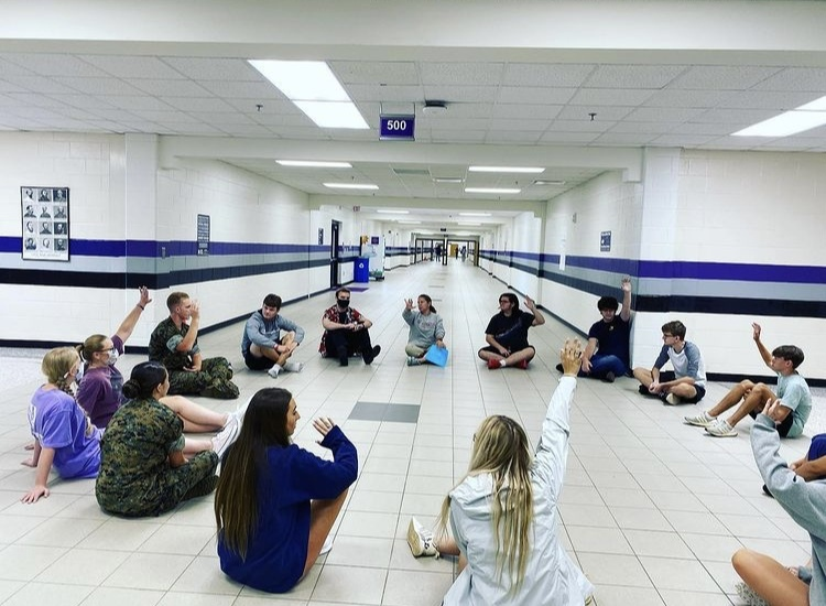 Students participate in Restorative Circles during Raider Time Homebase. Photo by NFHS.