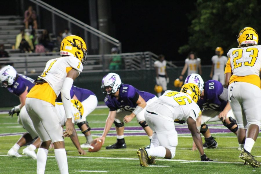 The North Forsyth team showed high levels of determination going into the game against Alcovy. (Photo by Mikayla Matthews)