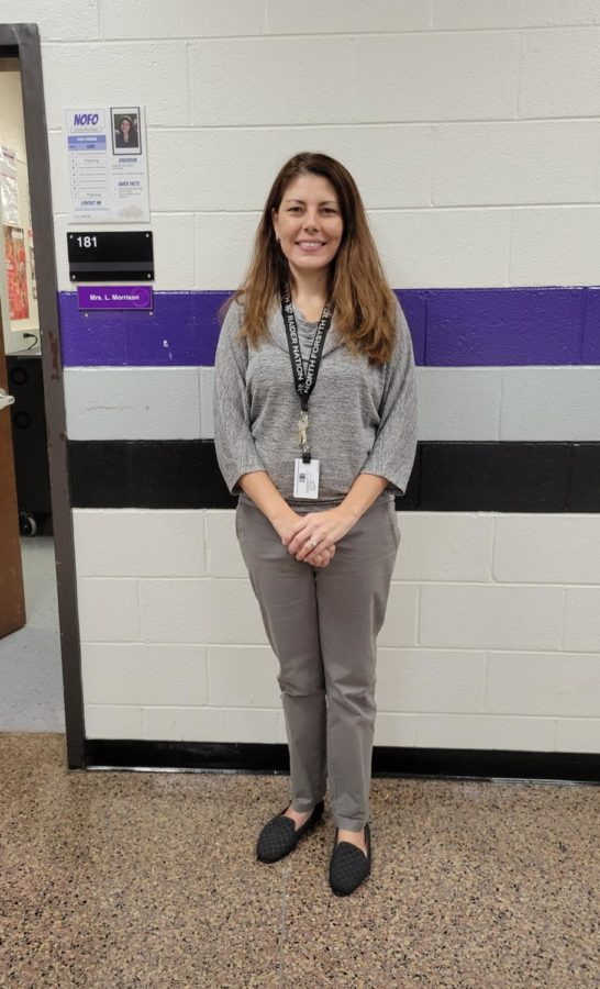 Meet the new Food Nutrition & Wellness teacher, Laura Morrison. She spoke on many topics, including her plans for this upcoming school year. Photo by: Cynda Allen.