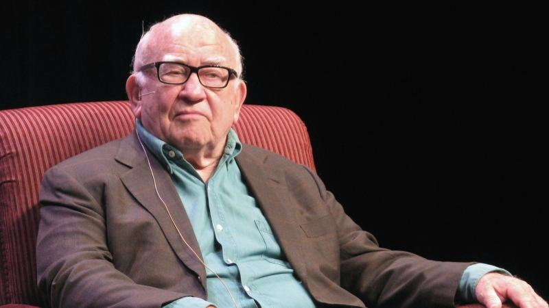 Ed Asner answered questions at the Banff World Media Festival. Photo by the Canadian Press.