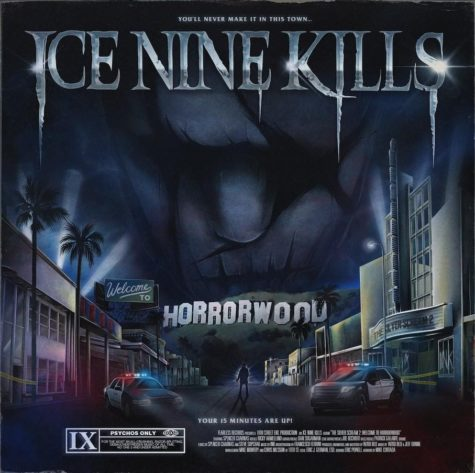 """Horror movie aficionados Ice Nine Kills return with a sequel to their last album, """"The Silver Scream."""" """"Welcome to Horrorwood"""" follows a fictional homicide case. Album art by Ice Nine Kills (artist unknown)."""